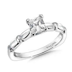 Valina Princess Cut Solitaire Engagement Ring R9431W-.625