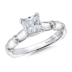 Valina Princess Cut Solitaire Engagement Ring R9431W-1.00