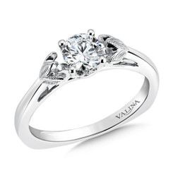Valina Round Solitaire Engagement Ring R9436W-.625