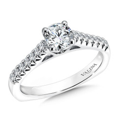 Valina Round Side Stone Engagement Ring R9441W