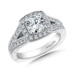Valina Round Halo Engagement Ring R9467W