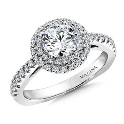 Valina Round Side Stone Engagement Ring R9468W