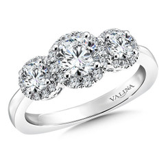Valina Round 3 Stone Engagement Ring R9473W