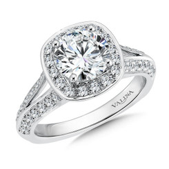 Valina Round Halo Engagement Ring R9482W
