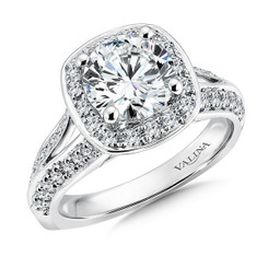 Valina Round Solitaire Engagement Ring R9486W