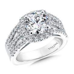Valina Round Halo Engagement Ring R9504W