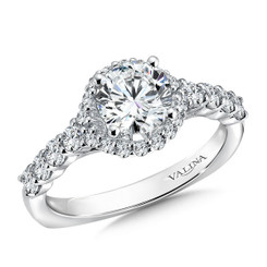 Valina Round Halo Engagement Ring R9514W