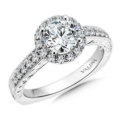 Valina Round Halo Engagement Ring R9516W