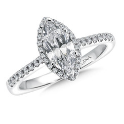Valina Marquise Halo Engagement Ring R9524W