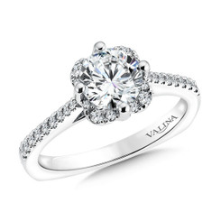 Valina Round Halo Engagement Ring R9540W