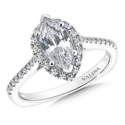 Valina Marquise Halo Engagement Ring R9544W