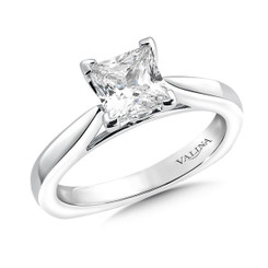 Valina Princess Cut Solitaire Engagement Ring R9547W