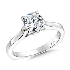 Valina Round Solitaire Engagement Ring R9549W