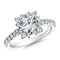 Valina Round Halo Engagement Ring R9557W