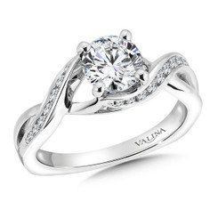 Valina Round Side Stone Engagement Ring R9560W