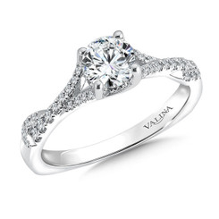Valina Round Criss Cross Engagement Ring R9561W