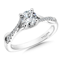 Valina Round Criss Cross Engagement Ring R9564W