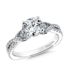 Valina Round Solitaire Engagement Ring R9572W