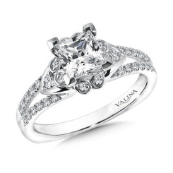 Valina Princess Cut Solitaire Engagement Ring R9574W