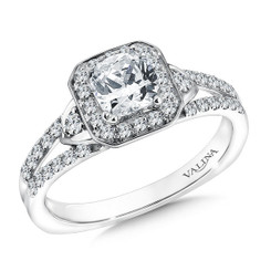 Valina Princess Cut Solitaire Engagement Ring R9576W
