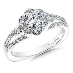 Valina Round Solitaire Engagement Ring R9577W