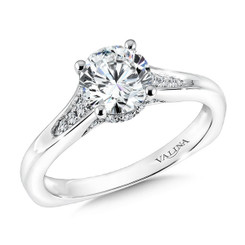 Valina Round Solitaire Engagement Ring R9584W