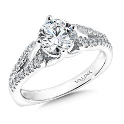 Valina Round Solitaire Engagement Ring R9592W