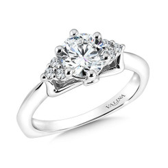 Valina Round Solitaire Engagement Ring R9593W