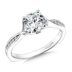 Valina Round Solitaire Engagement Ring R9596W