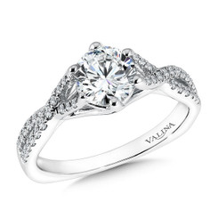 Valina Round Solitaire Engagement Ring R9597W