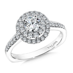 Valina Round Solitaire Engagement Ring R9599W