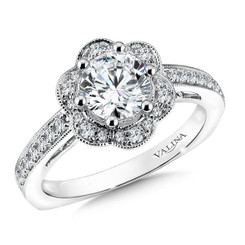 Valina Round Solitaire Engagement Ring R9612W