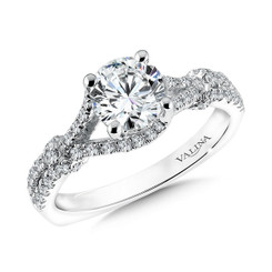 Valina Round Solitaire Engagement Ring R9614W