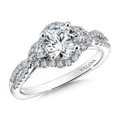 Valina Round Solitaire Engagement Ring R9617W