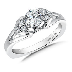 Valina Round Side Stone Engagement Ring RQ9342W