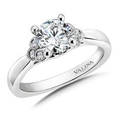 Valina Round Criss Cross Engagement Ring RQ9345W