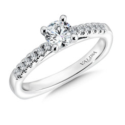 Valina Round Side Stone Engagement Ring RQ9347W