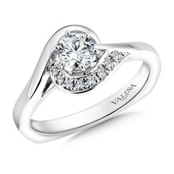 Valina Round Side Stone Engagement Ring RQ9351W