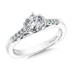 Valina Round Side Stone Engagement Ring RQ9352W