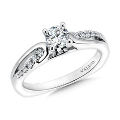 Valina Round Criss Cross Engagement Ring RQ9354W