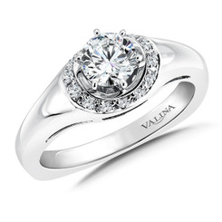 Valina Round Side Stone Engagement Ring RQ9355W