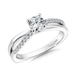 Valina Round Criss Cross Engagement Ring RQ9366W