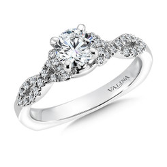 Valina Round Criss Cross Engagement Ring RQ9368W