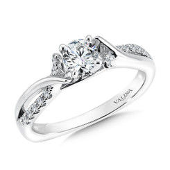 Valina Round Criss Cross Engagement Ring RQ9370W