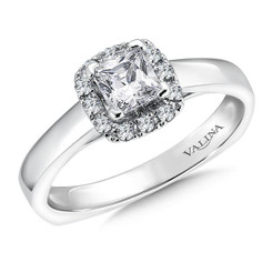 Valina Princess Cut with Cushion Halo Engagement Ring RQ9375W