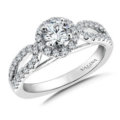 Valina Round Halo Engagement Ring RQ9381W