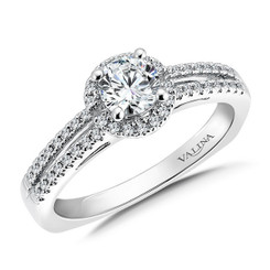 Valina Round Side Stone Engagement Ring RQ9382W