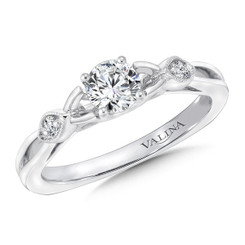 Valina Round Side Stone Engagement Ring RQ9394W