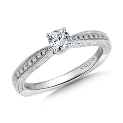 Valina Round Side Stone Engagement Ring RQ9396W