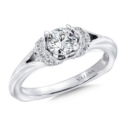 Valina Round Side Stone Engagement Ring RQ9410W